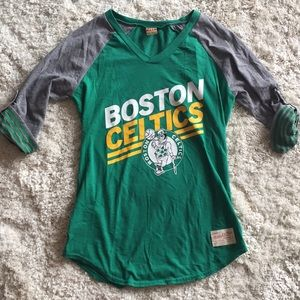 Boston Celtics baseball tee